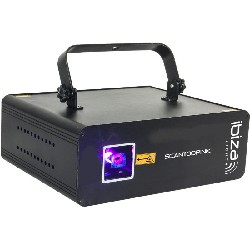 Ibiza SCAN1100PINK DMX-ControlLED Pink Laser 1100 MW DMX-ControlLED Pink Laser 1100 MW