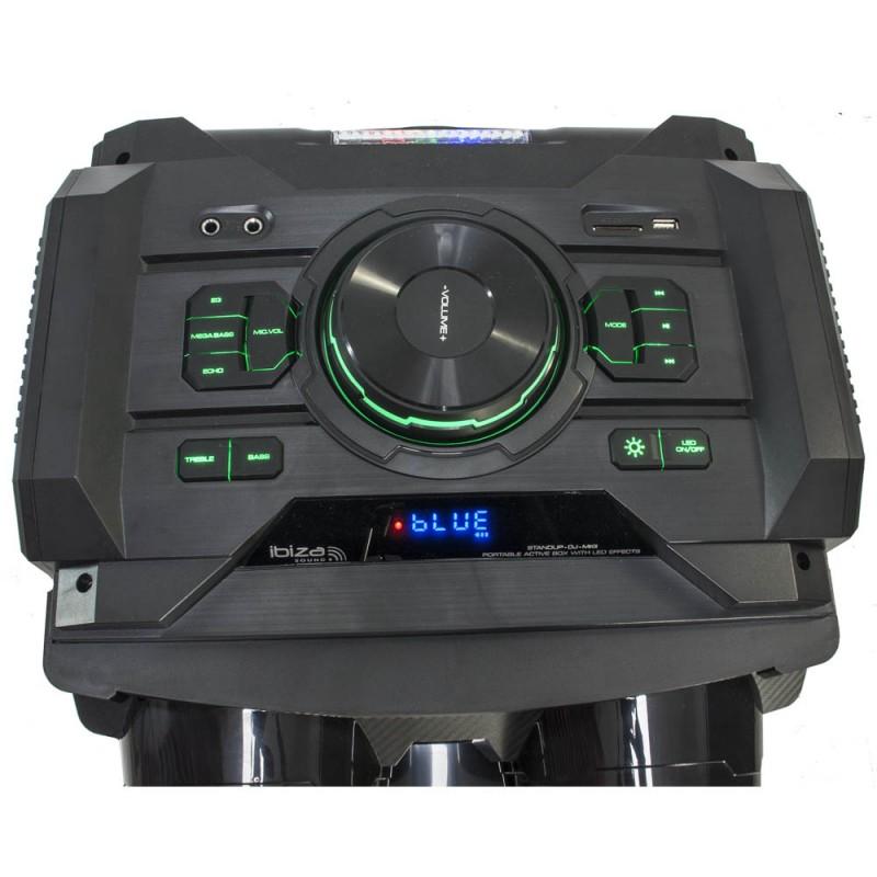 Ibiza STANDUP-DJ-MKII Stand-alone, LED-Illuminated Active Speaker Enclosure 2 x 12