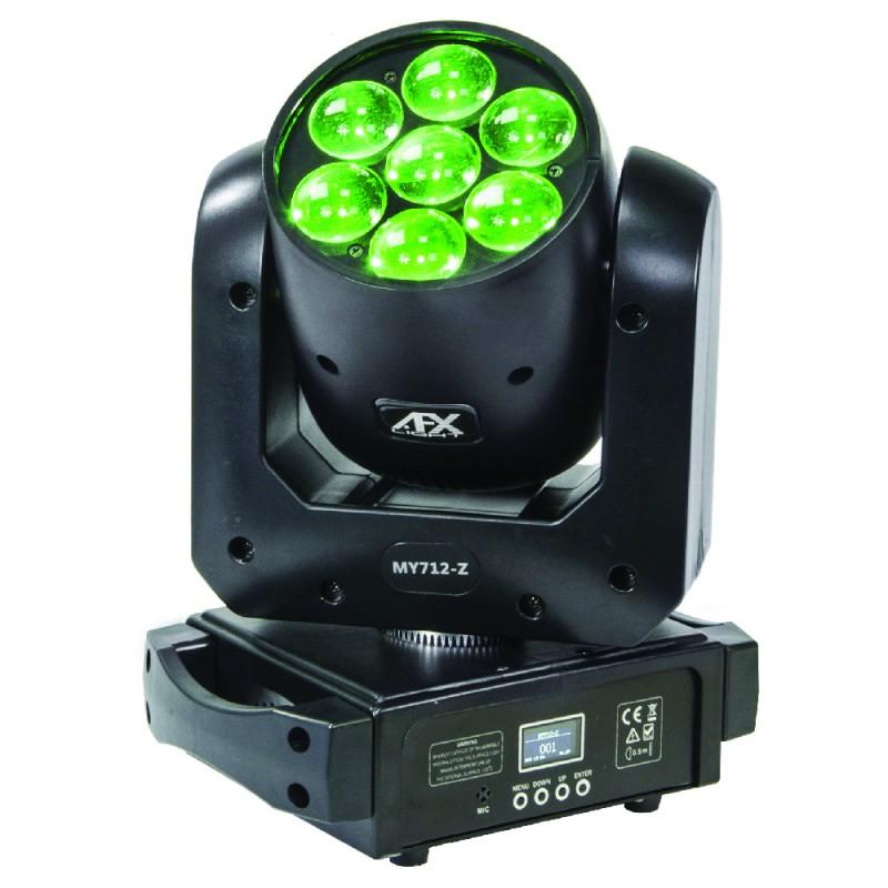 AFX Light MY712-Z LED RGBW 7x12W Wash Moving Head with Zoom LED RGBW 7x12W Wash Moving Head with Zoom