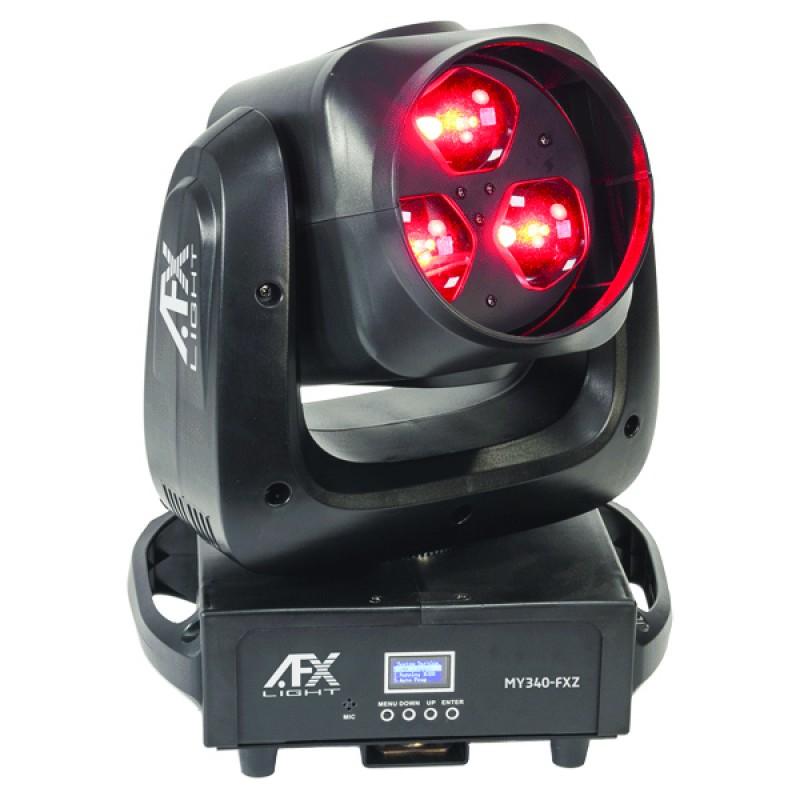 AFX Light MY340-FXZ LED RGBW 3x40W Wash Beam Graphic Moving Head with Zoom LED RGBW 3x40W Wash Beam Graphic Moving Head with Zoom