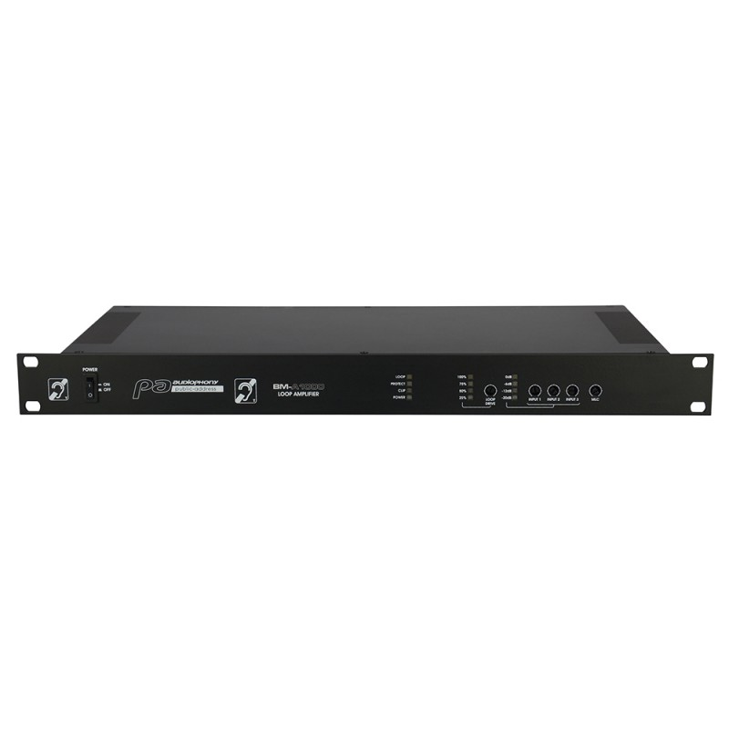 Audiophony BM-A1000 Loop amplifier for surfaces of 1000m2 Loop amplifier for surfaces of 1000m2