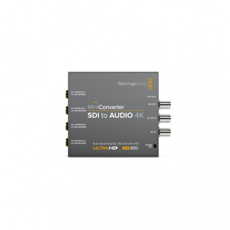 Blackmagic Design CONVMCSAUD4K Mini Converter - SDI to Audio 4K Mini Converter - SDI to Audio 4K