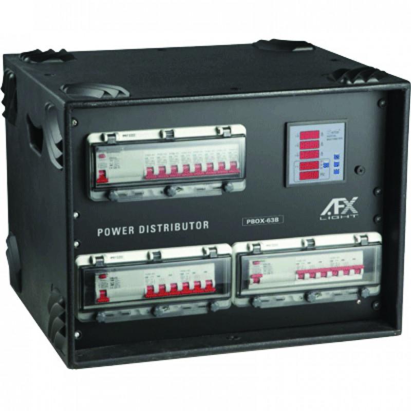 AFX Light PBOX-63B Powerbox 63A CEE TRI Input / 4 X 32A CEE TRI / 8x French socket outputs Powerbox 63A CEE TRI Input / 4 X 32A CEE TRI / 8x French socket outputs