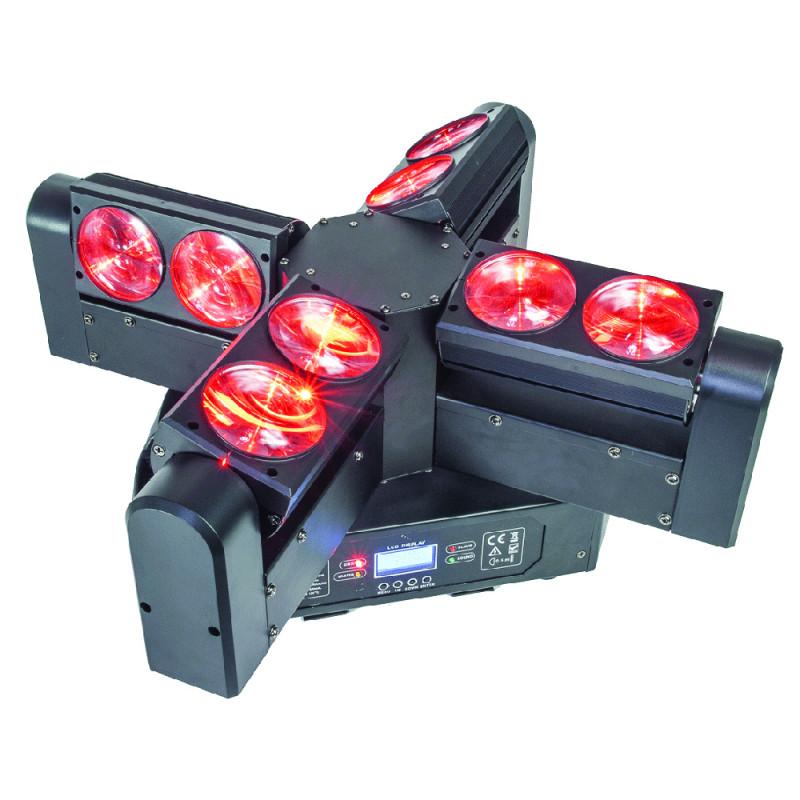 AFX Light BLADE8-FX LED RGBW 8x12W Multi Beam Moving Head with Endless Rotation LED RGBW 8x12W Multi Beam Moving Head with Endless Rotation