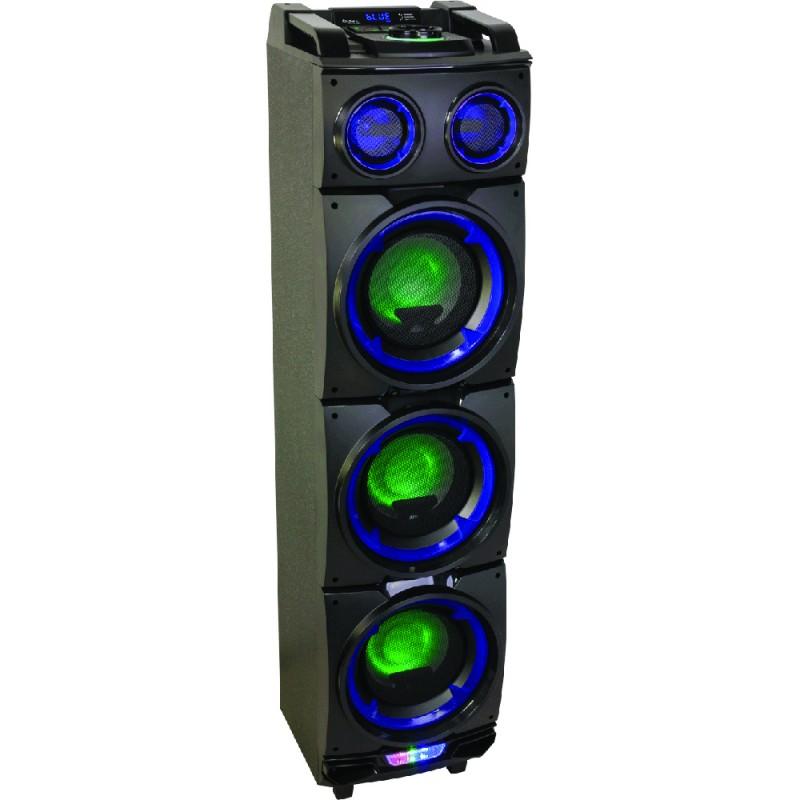 Ibiza STANDUP308 LED-Illuminated Active Speaker Enclosure 3 x 8