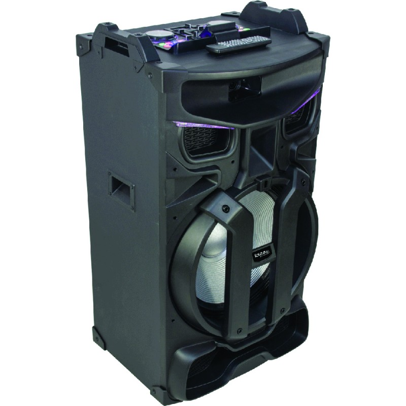 Ibiza STANDUP18-MAX Amplified Speaker Enclosure with Dual Bluetooth, USB, SD, FM Tuner & Remote Control – 18