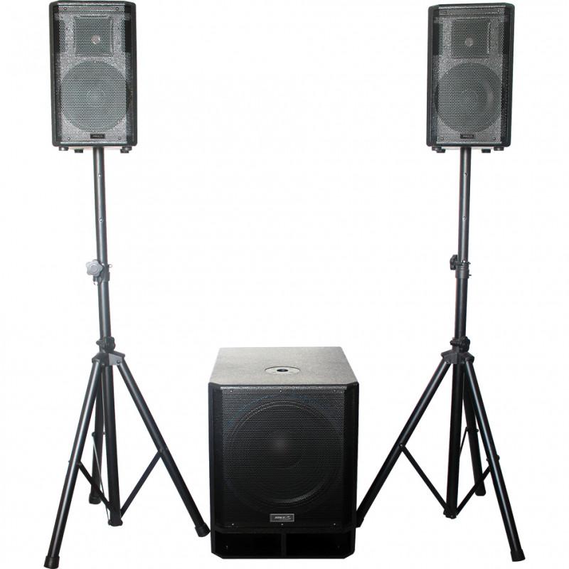 """BST KE15 Active 2.1 Speaker System 15""""/38 cm 800 W Active 2.1 Speaker System 15""""/38 cm 800 W"""