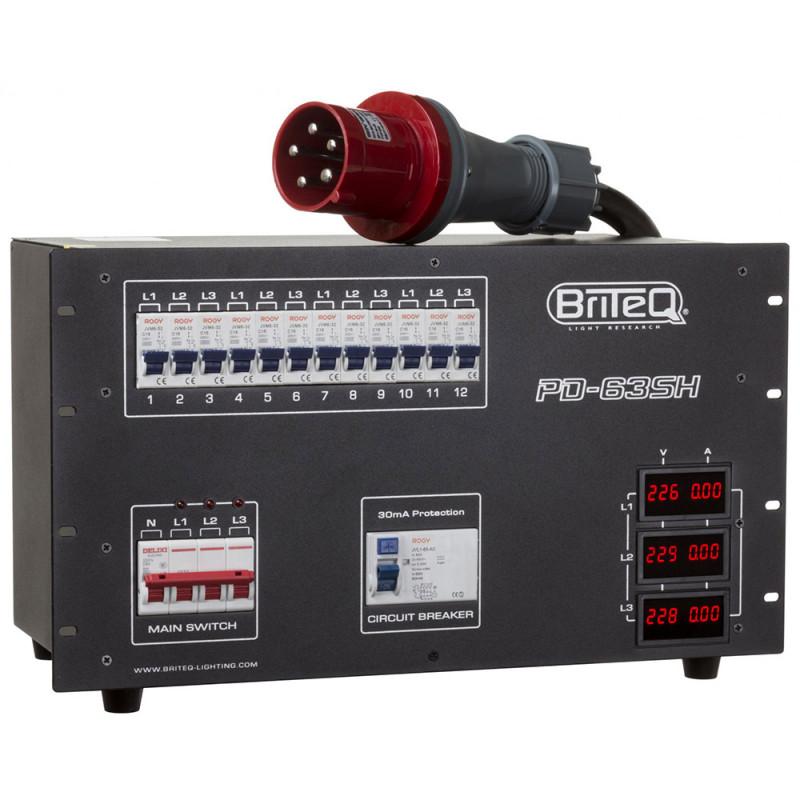 Briteq PD-63SH/GERMAN Power Distributor 63A / Harting+Socapex (GER) Power Distributor 63A / Harting+Socapex (GER)