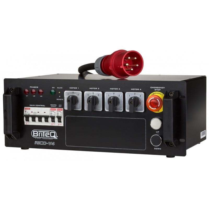 Briteq RICO-V4 4CH Hoist Controller with Master/Slave 4CH Hoist Controller with Master/Slave
