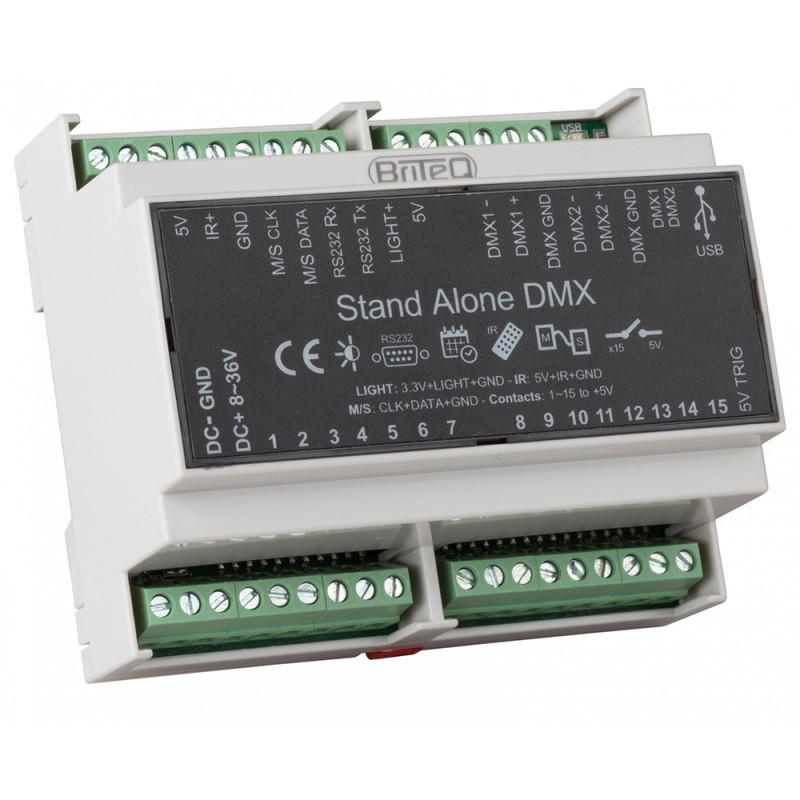 Briteq LD-1024DIN DMX Interface 1024ch, DINrail, Chromateq software DMX Interface 1024ch, DINrail, Chromateq software