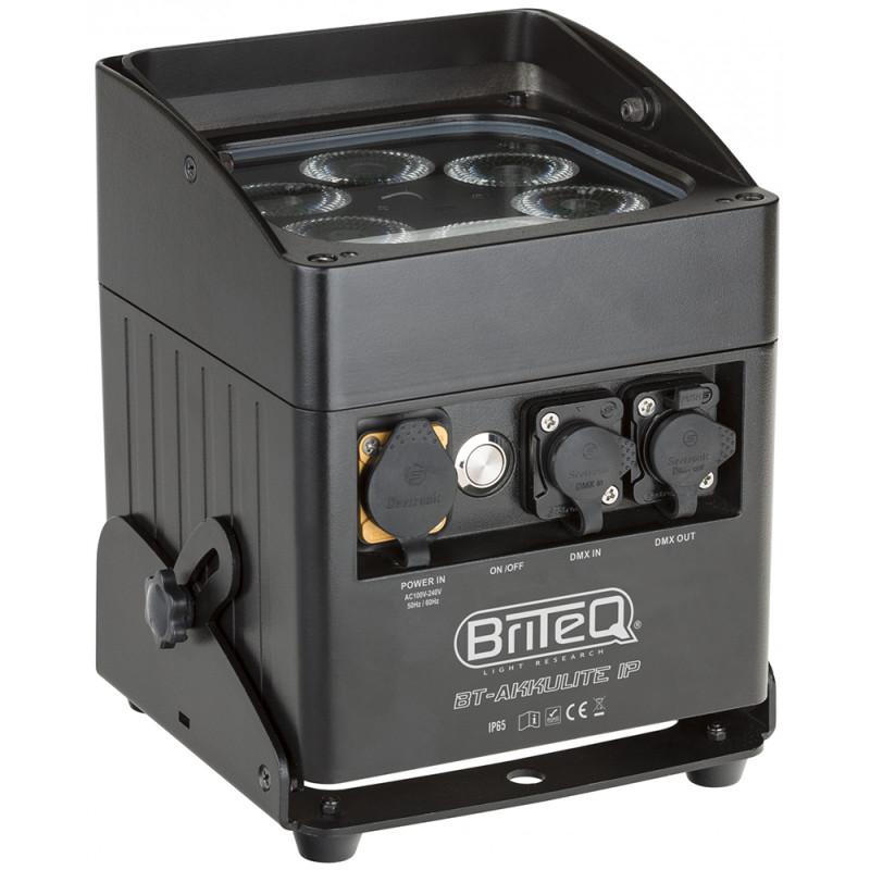 Briteq BT-AKKULITE IP Battery Wireless DMX LED projector RGBWA IP65 Battery Wireless DMX LED projector RGBWA IP65