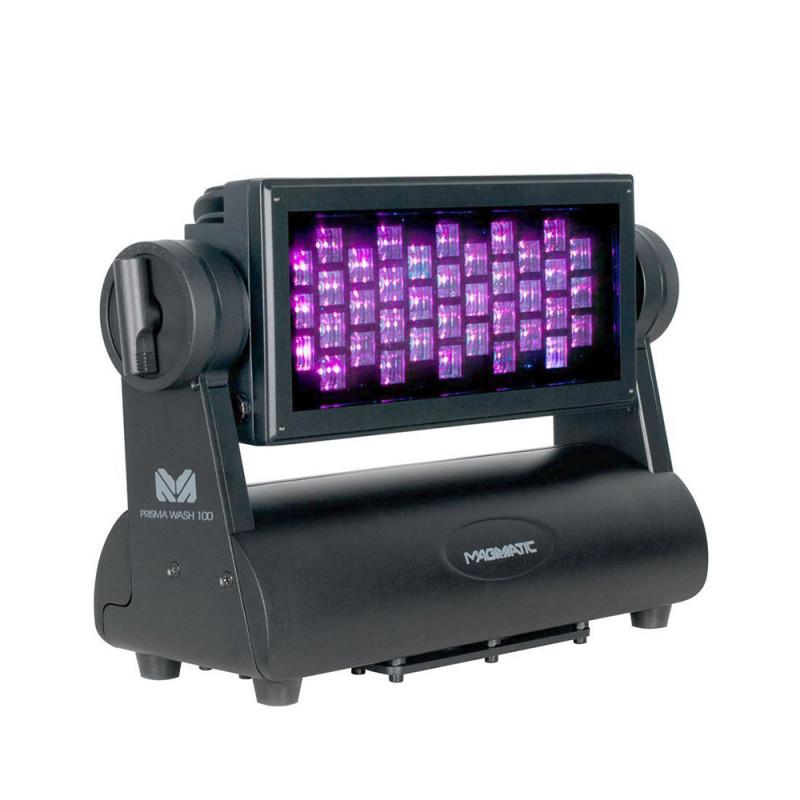 Magmatic Prisma Wash 100 Wash Luminaire 38x2W UV Diode LEDs 90° Wide Beam Angle Wash Luminaire 38x2W UV Diode LEDs 90° Wide Beam Angle