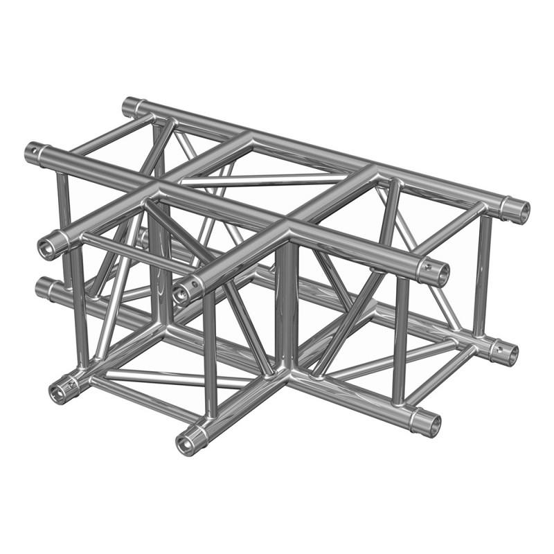 Contest QUATRO-A03 Quatro aluminium T corner 290 heavy duty 3 directions 90° with conical couplers Quatro aluminium T corner 290 heavy duty 3 directions 90° with conical couplers