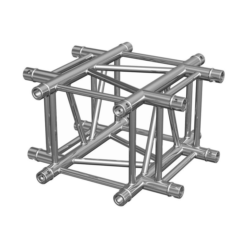 Contest QUATRO-A04 Quatro aluminium corner 290 heavy duty 4 directions 90° with conical couplers Quatro aluminium corner 290 heavy duty 4 directions 90° with conical couplers