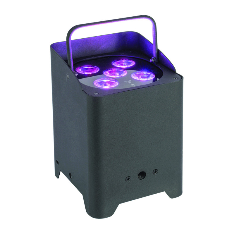 AFX Light IBOX-H5 Par Can 5x 12W RGBWA-UV LED Battery Light with WDMX and Charge Base Par Can 5x 12W RGBWA-UV LED Battery Light with WDMX and Charge Base