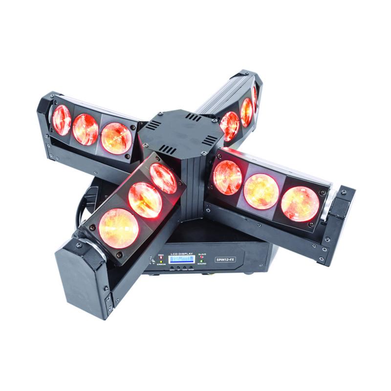AFX Light SPIN12-FX LED RGBW 12x20W Multi Beam Moving Head with DMX LED RGBW 12x20W Multi Beam Moving Head with DMX