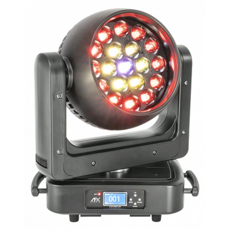 AFX Light LEDWASH-1920Z AFX - LED MOVING HEAD 19 x 20W w/ZOOM 10-60°, CIRCLE CONTROL, DMX AFX - LED MOVING HEAD 19 x 20W w/ZOOM 10-60°, CIRCLE CONTROL, DMX
