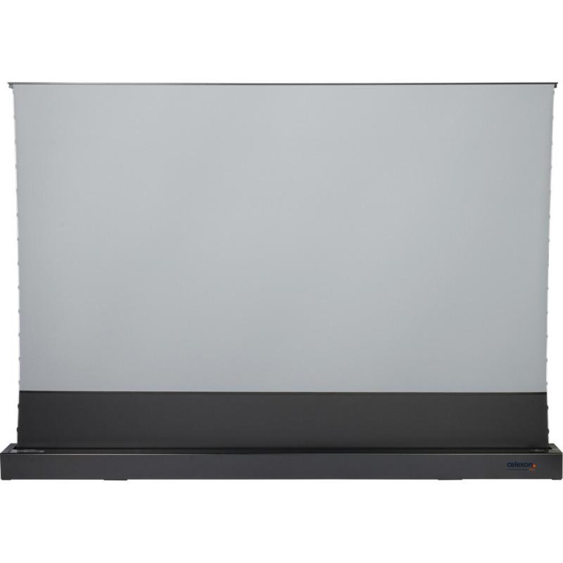 Celexon CLR HomeCinema UST 1000012353 CLR HomeCinema UST High Contrast Electric Floor Screen, 221 x 124cm, 100 inch, 16:9 - Black CLR HomeCinema UST High Contrast Electric Floor Screen, 221 x 124cm, 100 inch, 16:9 - Black