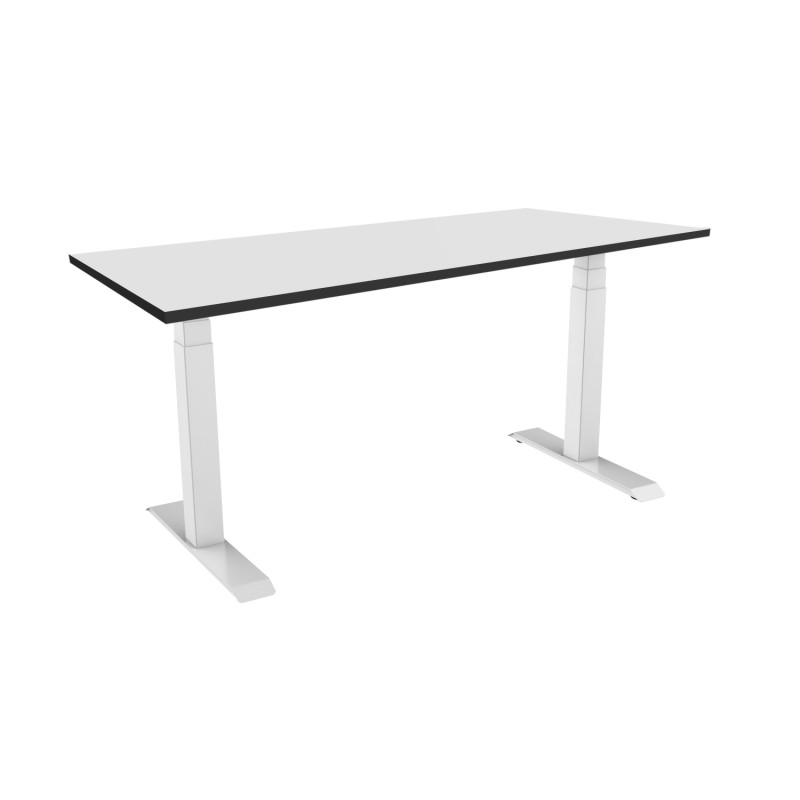 Celexon eAdjust-58123W-HPL125 Professional series Electrically height adjustable desk, white, with HPL Table Top 125 x 75 cm Professional series Electrically height adjustable desk, white, with HPL Table Top 125 x 75 cm