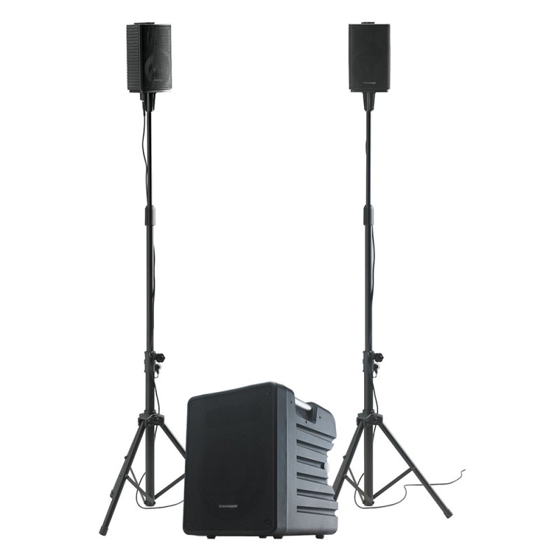 Audiophony MOJO1000FX Active subwoofer and satellites system + multi-effect DSP and Bluetooth® input Active subwoofer and satellites system + multi-effect DSP and Bluetooth® input