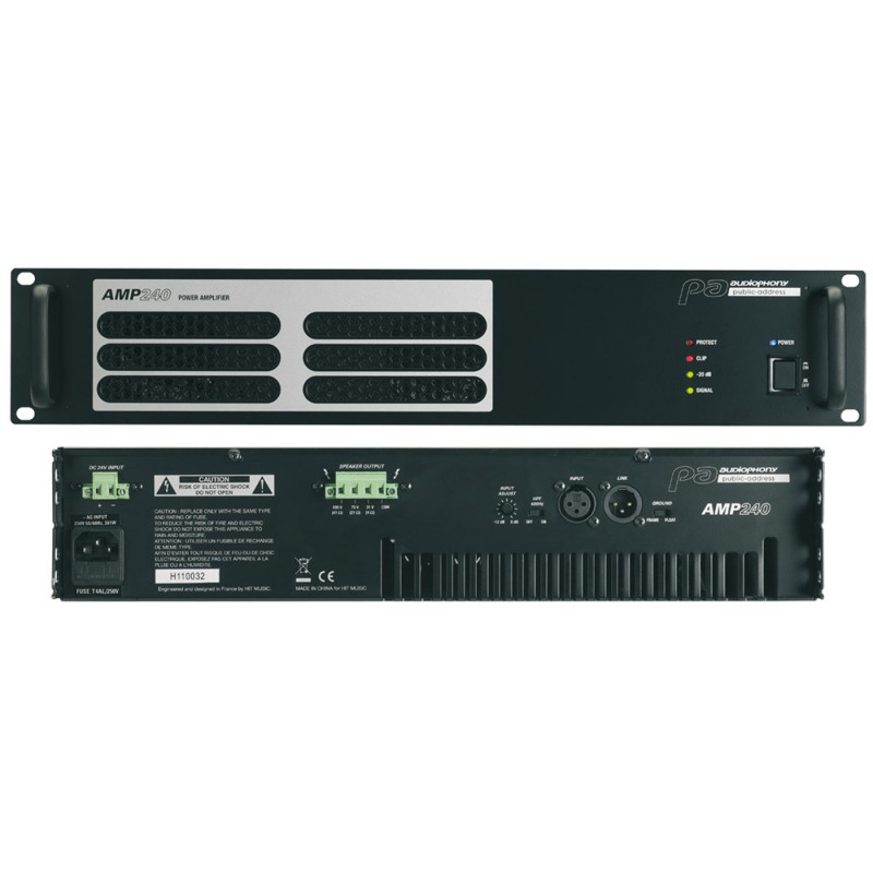 Audiophony AMP240 Professional amplifier for 100v installations Professional amplifier for 100v installations