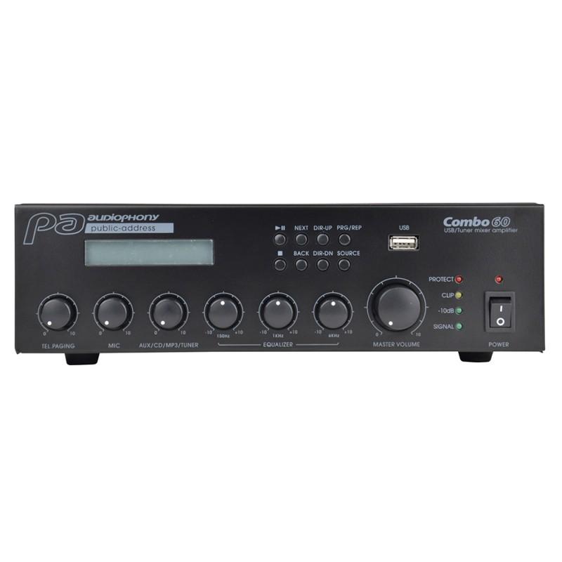 Audiophony COMBO60 Mixer/Amplifier/Multimedia player Mixer/Amplifier/Multimedia player