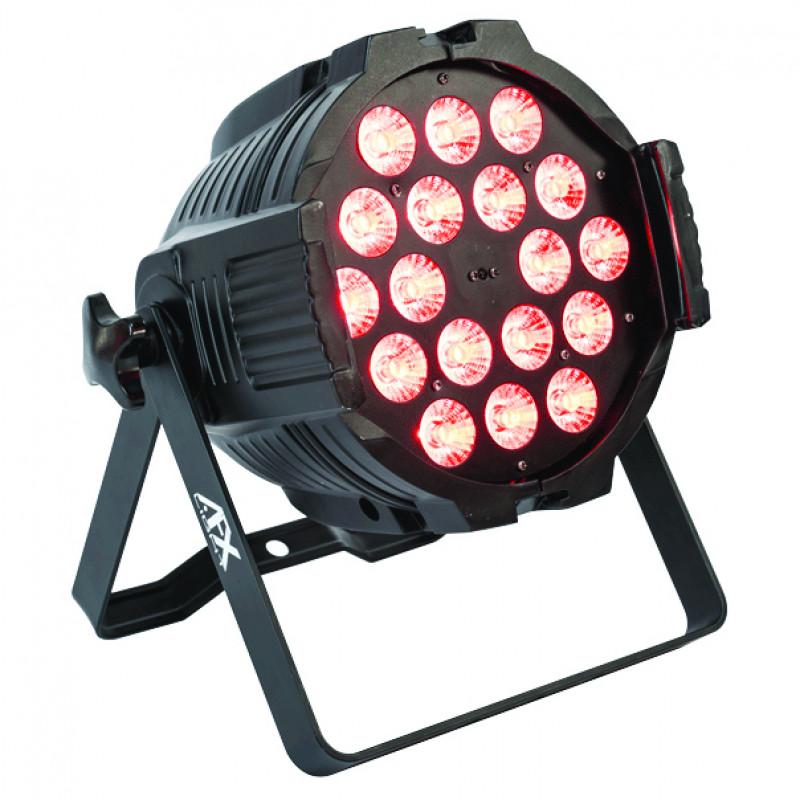 AFX Light PARLED1820IR LED PAR 18x 18W RGBAW+UV 6in1 Remote Controlled LED PAR 18x 18W RGBAW+UV 6in1 Remote Controlled