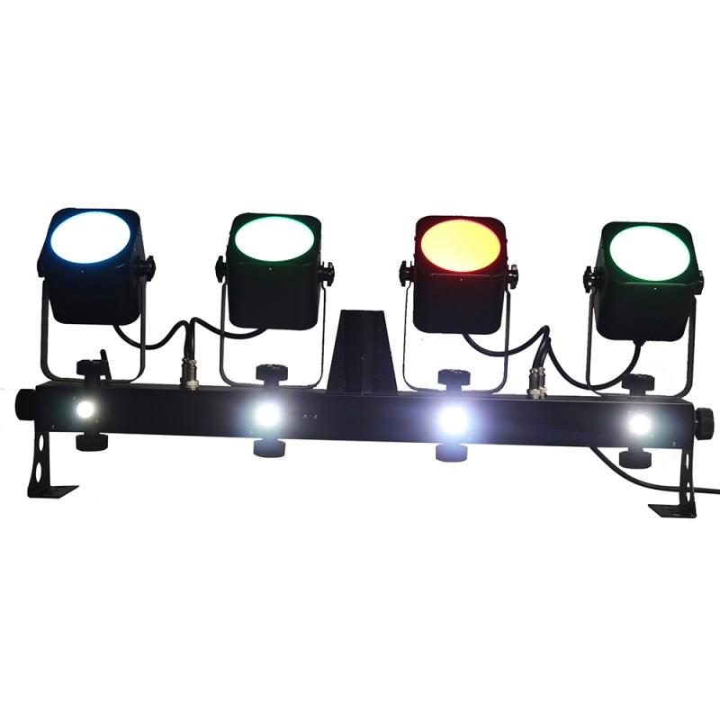 AFX Light COMBO-BAR 4x DMX-Controlled COB LED Projectors on a T-Bar 4x DMX-Controlled COB LED Projectors on a T-Bar